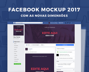 [Mockup] Novo Layout de Página do Facebook para Download em .PSD