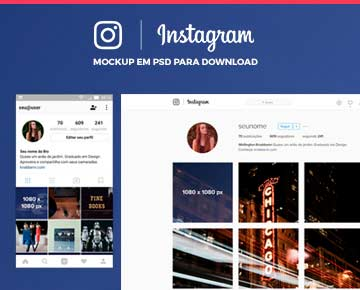 Mockup de Instagram para Download