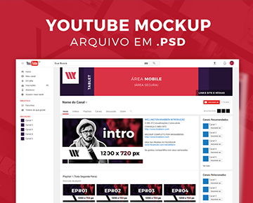 [PSD] Mockup de YouTube para Download 2017