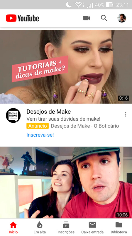 sites para baixar vídeos do YouTube abrir o youtube