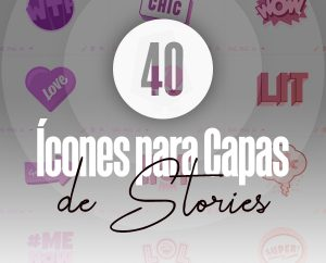 40 conjunto de icones para capas de destaques do instagram stories